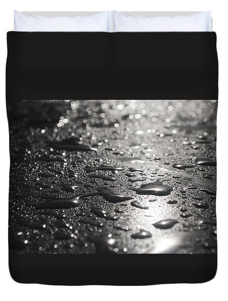 Duvet Cover featuring the photograph Hard And Soft by Miguel Winterpacht