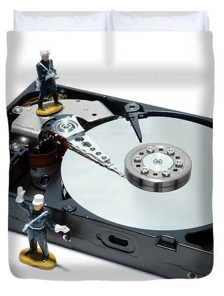 Hard Drive Security Duvet Cover