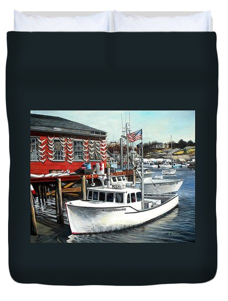 Hard Merchandise Rocky Neck Duvet Cover by Eileen Patten Oliver