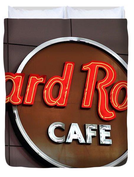 Hard Rock Cafe Sign Duvet Cover