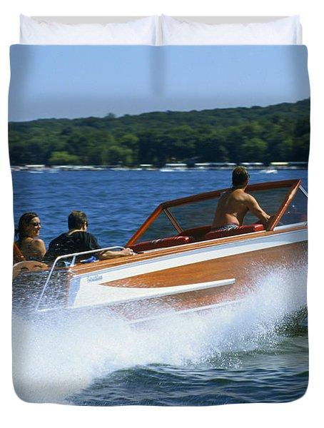 Hard Turn - Lake Geneva Wisconsin Duvet Cover