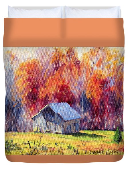 Hardy Road Barn- In Autumn Duvet Cover