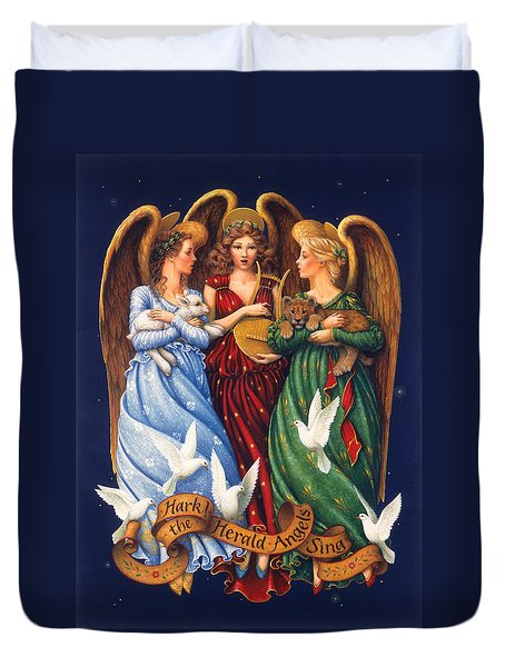Hark The Herald Angels Sing Duvet Cover