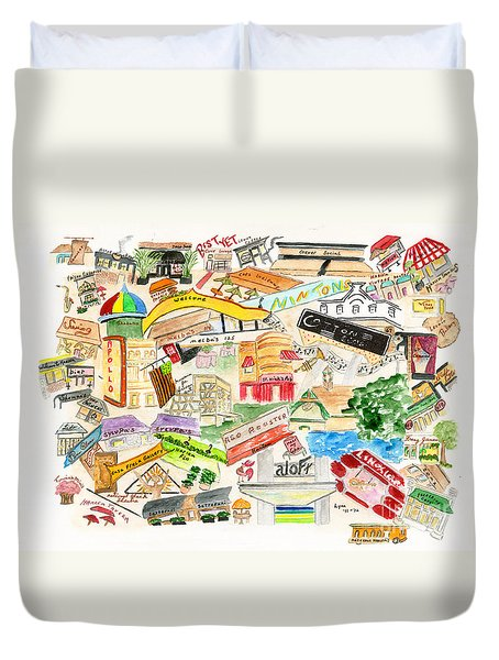 Harlem Collage Duvet Cover