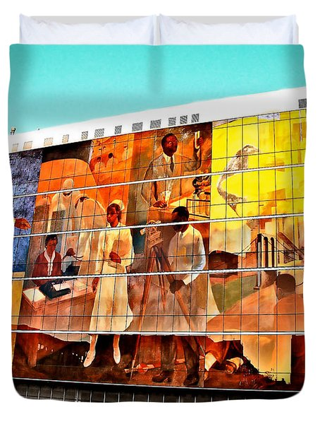 Harlem Hospital Mural Duvet Cover
