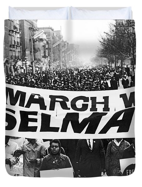 Harlem Supports Selma Duvet Cover by Stanley Wolfson