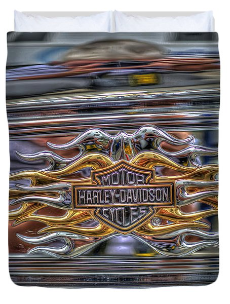Harley Badge Duvet Cover