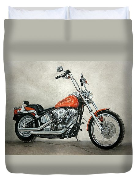 Harley Davidson Duvet Cover by Heather Gessell