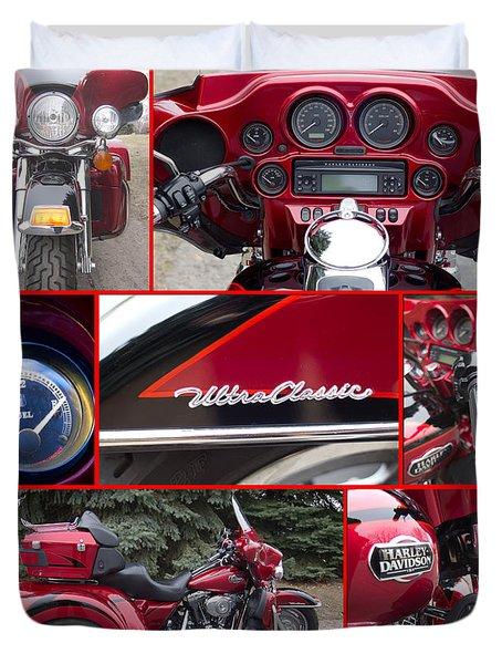 Harley Davidson Ultra Classic Trike Duvet Cover