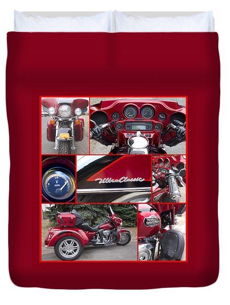 Duvet Cover featuring the photograph Harley Davidson Ultra Classic Trike by Patti Deters