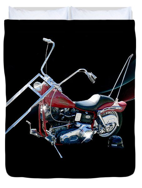 Duvet Cover featuring the photograph Harley by Ericamaxine Price