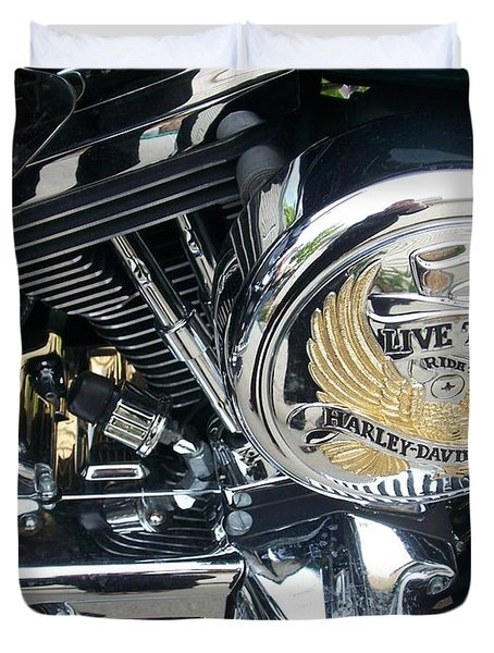 Harley Live To Ride Duvet Cover