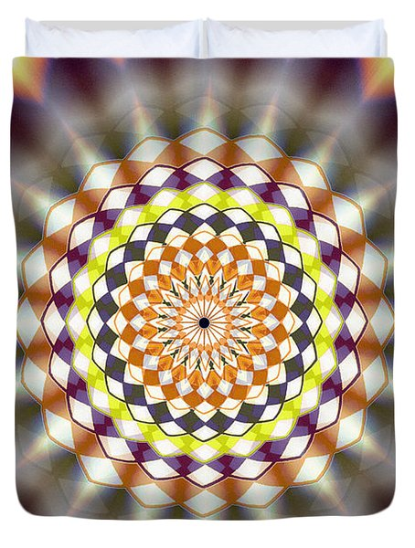 Duvet Cover featuring the drawing Harmonic Sphere Of Energy by Derek Gedney