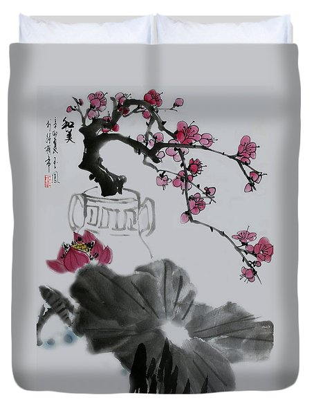 Duvet Cover featuring the photograph Harmony And Beauty by Yufeng Wang