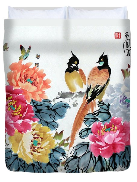 Harmony And Lasting Spring Duvet Cover by Yufeng Wang