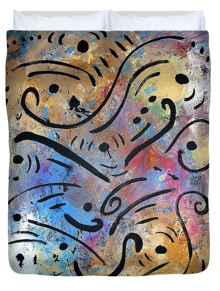 Harmony And Rain Duvet Cover by Venus