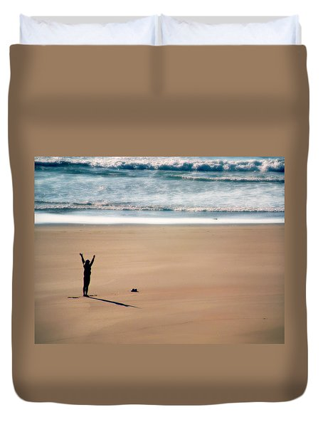 Duvet Cover featuring the photograph Harmony  by Micki Findlay