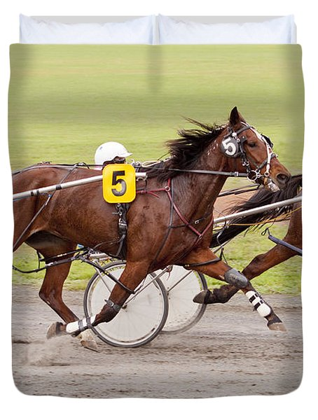 Harness Racing Duvet Cover by Michelle Wrighton