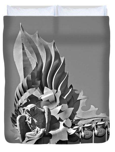 Harold Washington Library Chicago Duvet Cover by Christine Till