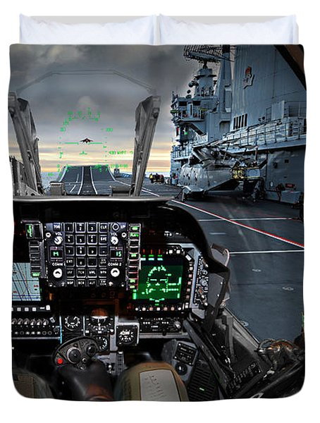 Harrier Cockpit Duvet Cover by Paul Fearn