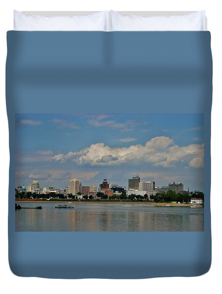 Harrisburg Skyline Duvet Cover by Ed Sweeney