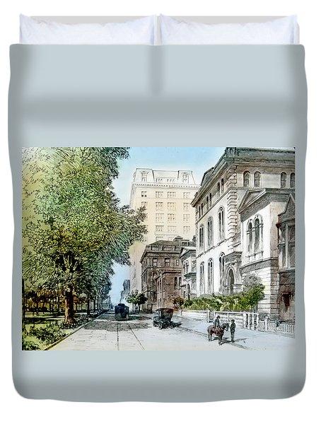 Harrison Residence East Rittenhouse Square Philadelphia C 1890 Duvet Cover