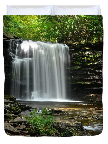 Harrison Wright Falls Duvet Cover by Frozen in Time Fine Art Photography