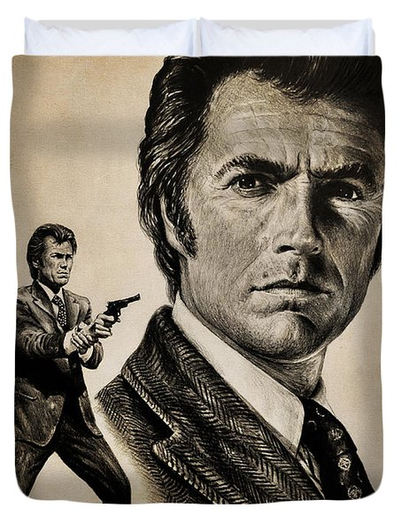 Harry Callahan  Tan Version Duvet Cover by Andrew Read