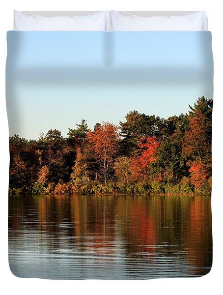 Hart Pond Golden Hour Duvet Cover
