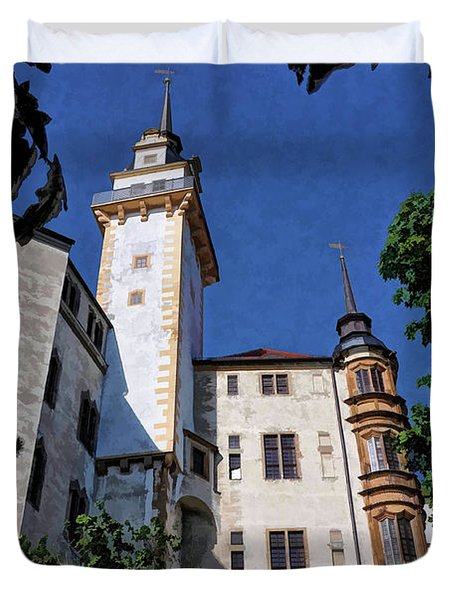 Duvet Cover featuring the photograph Hartenfels Castle - Torgau Germany by Mark Madere