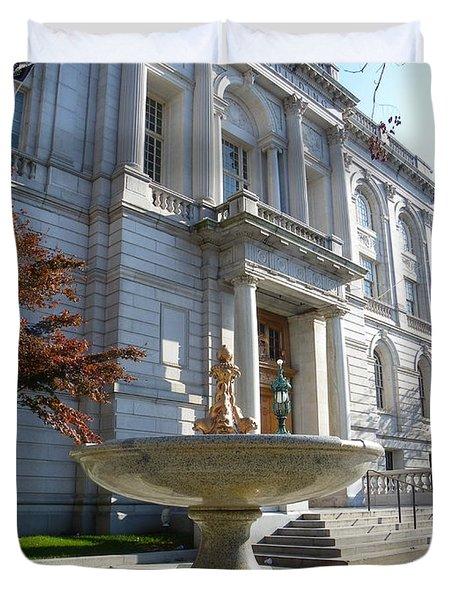 Hartford Historical Building Duvet Cover