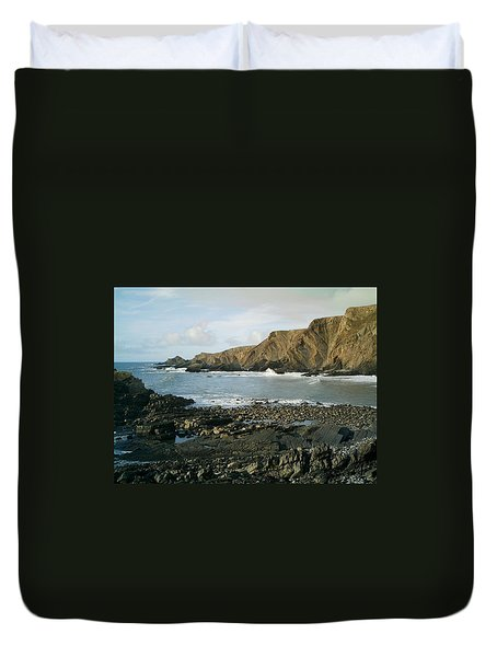 North Devon - Hartland Quay Duvet Cover by Richard Brookes
