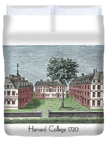Harvard College - 1720 Duvet Cover