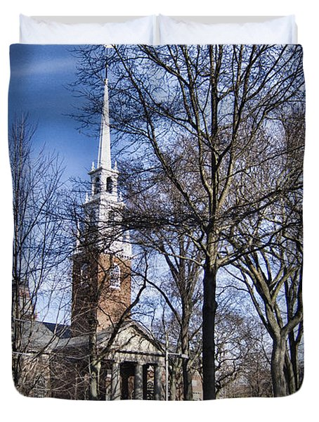 Harvard University Old Yard Church Duvet Cover