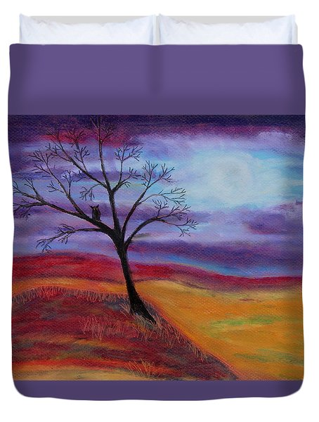 Harvest Moon 2 Duvet Cover by Jeanne Fischer