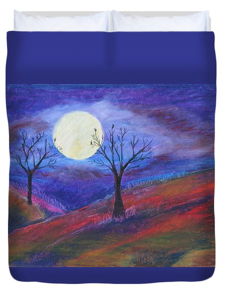 Harvest Moon 3 Duvet Cover by Jeanne Fischer