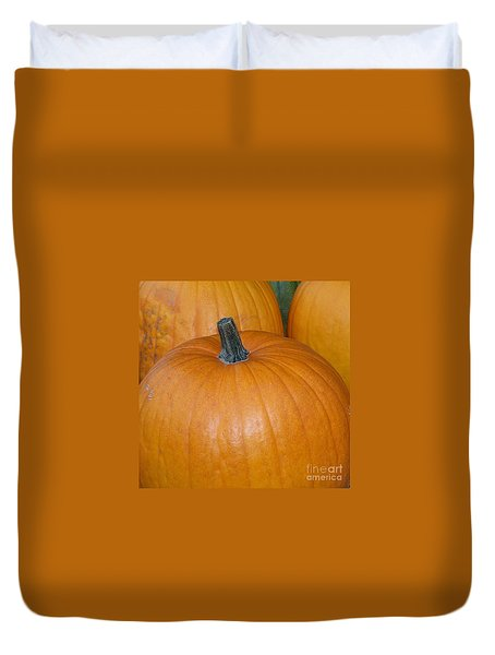 Duvet Cover featuring the photograph Harvest Pumpkins by Chalet Roome-Rigdon