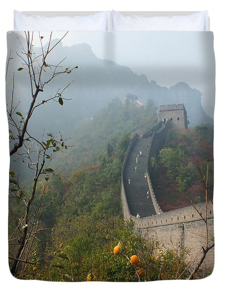 Harvest Time At The Great Wall Of China Duvet Cover