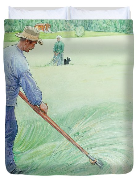 Harvesters Duvet Cover by Carl Larsson