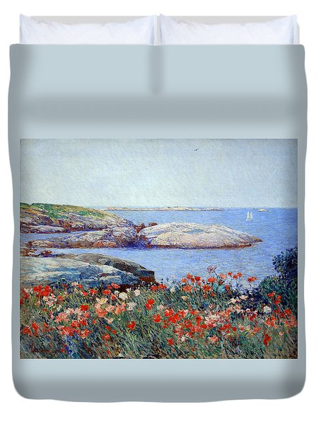 Hassam's Poppies On The Isles Of Shoals Duvet Cover