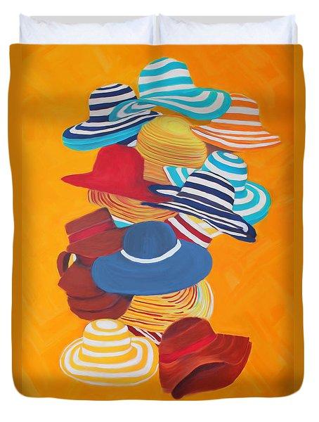 Hats Off Duvet Cover