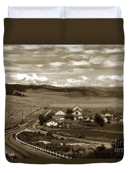Hatton Ranch Carmel Valley From Highway One California  1940 Duvet Cover