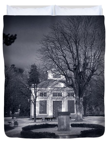 Haunted House Duvet Cover by Michal Bednarek