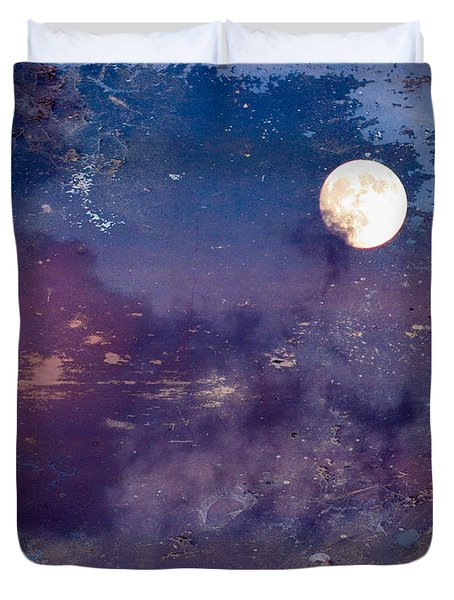 Haunted Moon Duvet Cover by Roselynne Broussard