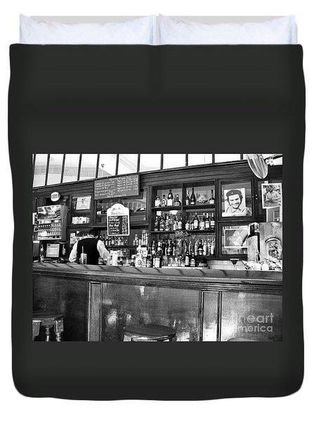 Duvet Cover featuring the photograph Havana Bar Cuba by Lynn Bolt