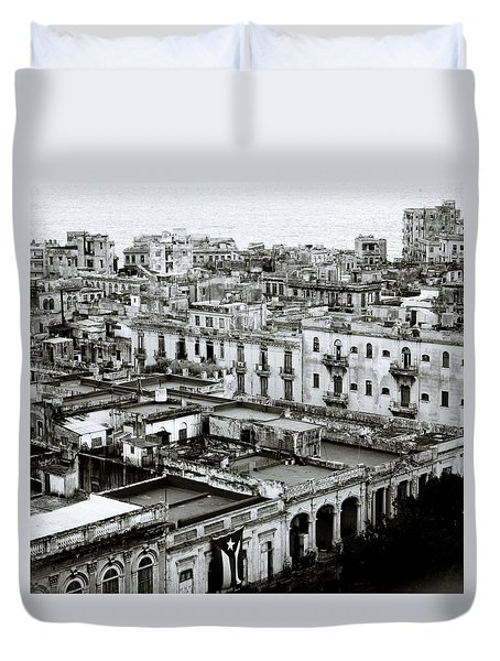 Havana City Duvet Cover by Shaun Higson