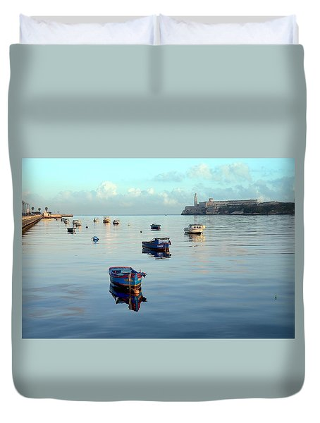 Duvet Cover featuring the photograph Havana Maritime 2 by Steven Richman