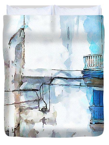Havana Street Duvet Cover