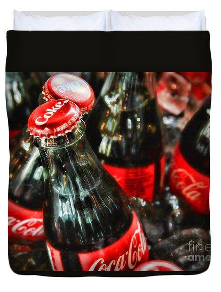 Have A Coke And Give A Smile By Diana Sainz Duvet Cover