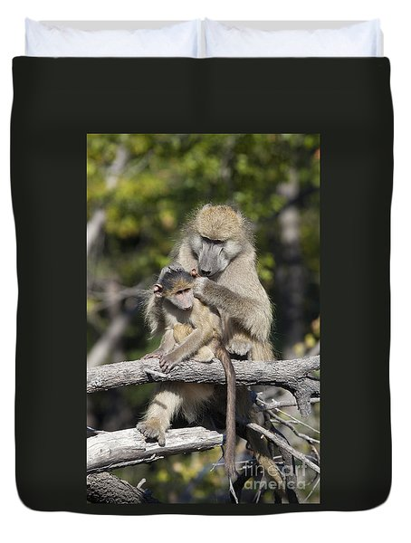 Duvet Cover featuring the photograph Have You Cleaned Behind Your Ears by Liz Leyden